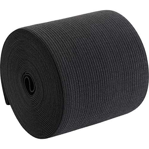 3 Inch Elastic - eBoot Black Elastic Spool (3 Inch x 5 Yard)