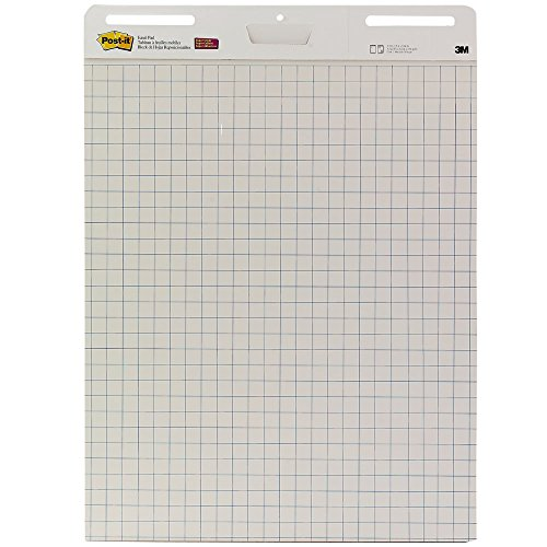 Post-it Easel Pad, 25 x 30-Inches Sheets, White with Grid, 3