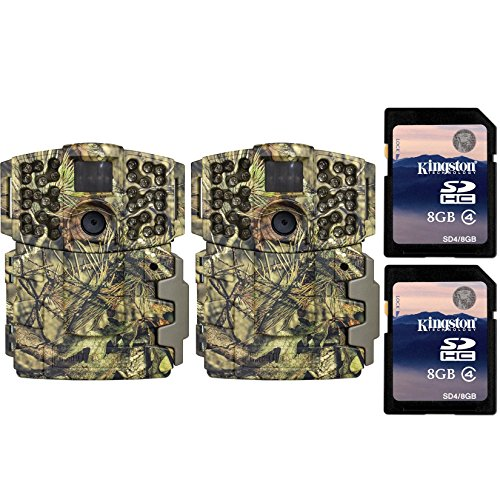 Moultrie No Glow Invisible 20MP Mini 999i IR Trail Game Cameras (2) + SD Cards