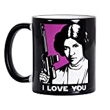 Star Wars Mug I Love You I Know Han Leia Elbenwald Ceramic Black
