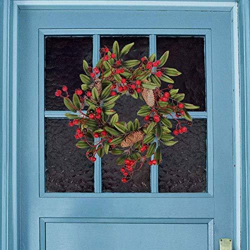 Brave669 [Christmas Decoration]-Christmas Pine Cone Wreath Rattan Garland Wall Hanging Ornament Home Decoration,Christmas Lights