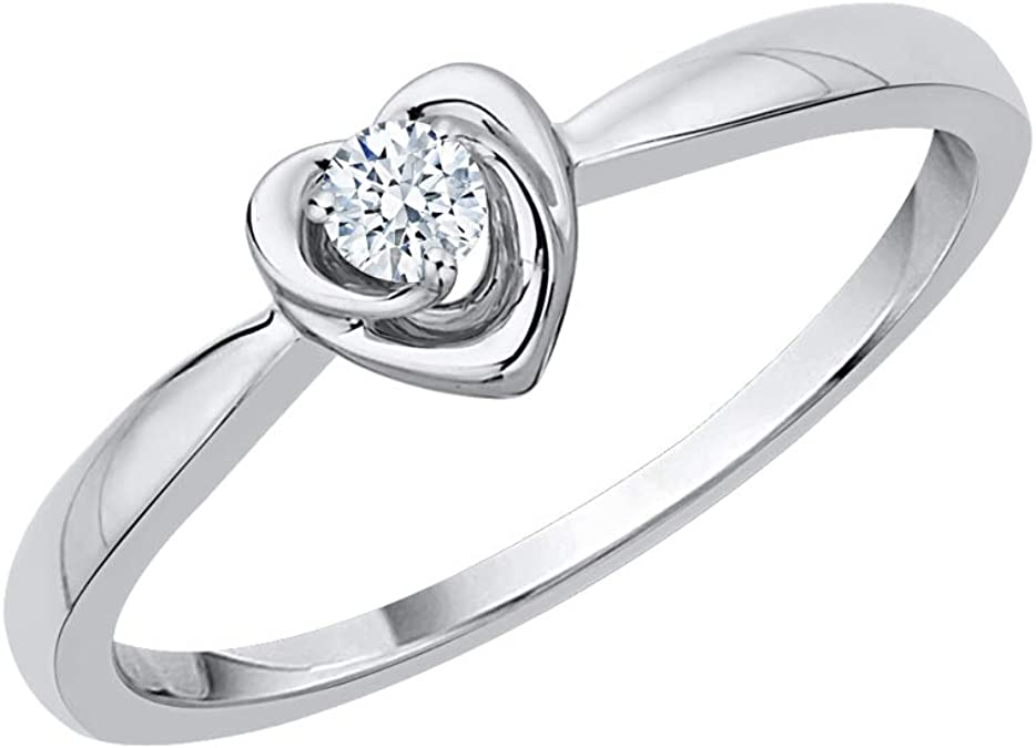 1//8 cttw, G-H,I2-I3 Diamond Wedding Band in 10K White Gold Size-3.25