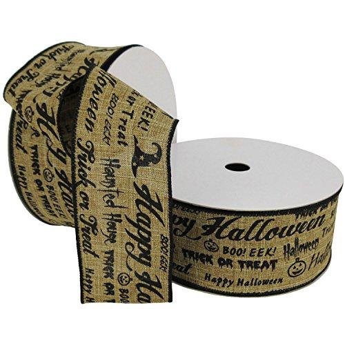 Halloween Member's Mark Premium Wire Ribbon (2.5 inches