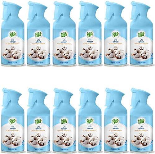12x Fresh&More Raumspray Fresh Cotton Lufterfrischer Frischehauch -250ml