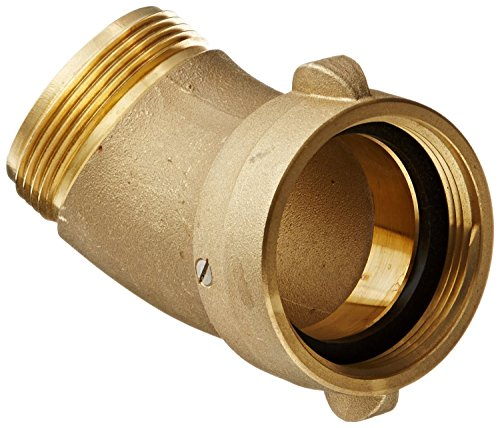 (Dixon Valve RSE45250F Brass Fire Equipment, 45 Degree Angle and Suction Elbow with Rocker Lug, 2-1/2