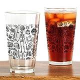 CafePress - Anatomy_W_Twin_Duvet - Pint Glass, 16 oz. Drinking Glass