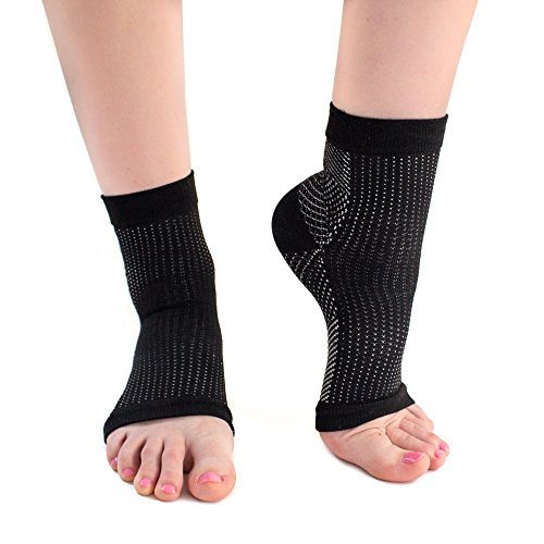 Plantar Fasciitis Socks Compression Foot Sleeve Ankle Arch Heel Brace (L/XL) ()