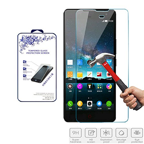 For ZTE Nubia Z7 Max Tempered Glass, Nacodex HD Premium 0.3mm 2.5D Tempered Glass Screen Protector Film - Retail Package (For ZTE Nubia Z7 Max)