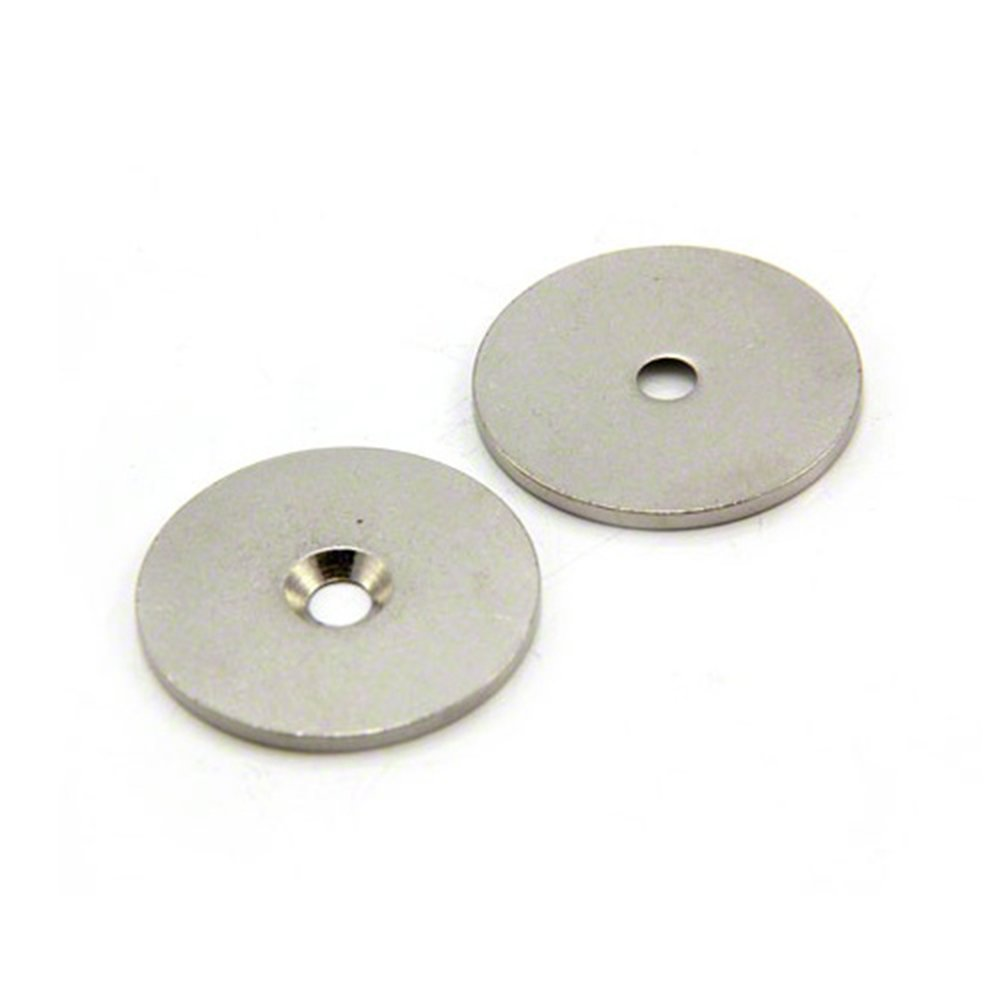 Magnet Expert 32mm dia x 2mm thick x 4mm c//sink Steel Disc Pack of 10