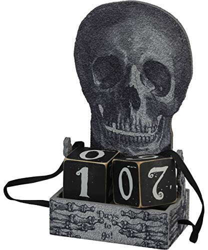 Primitives by Kathy Halloween Skull Countdown Block - Days to Go -