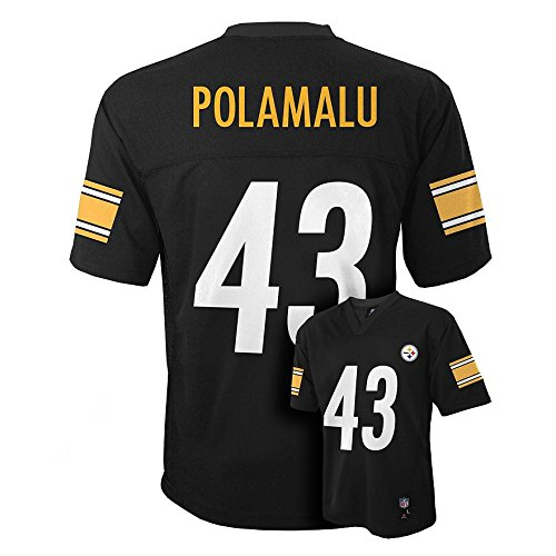 Troy Polamalu Pittsburgh Steelers #43 NFL Kids 4-7 Mid-tier Team Color Jersey (Kids Large Size (Custom Steelers Jersey)