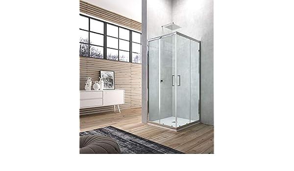 mampara de ducha angular marco con Doble puerta Corredera de, 90 X 90: Amazon.es: Bricolaje y herramientas