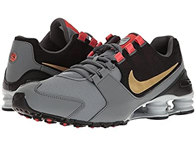 Nike Shox Avenue 833583-007 Cool Grey/Metallic Gold Men's Running Shoes (8
