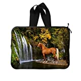 "Neoprene Running Horse Sleeve Case for All Laptop 15"" (Twin Sides)"