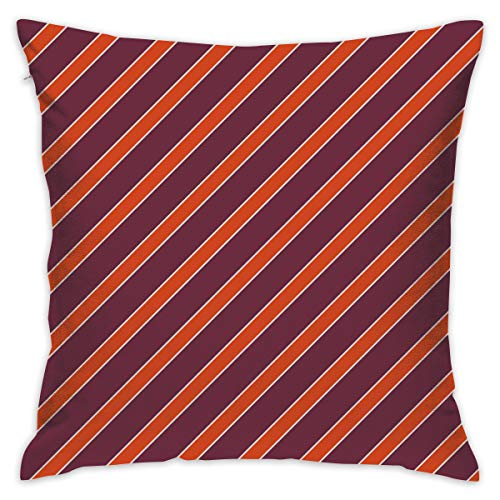 (Eson J Virginia Tech Hokies Chicago Maroon Burnt Orange-01_938 Throw Pillow Covers Decorative Home Office Pillowcases for Sofa 18 X 18 Inch)