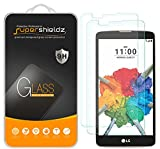 [2-Pack] Supershieldz for LG Stylo 2 V (Verizon) Tempered Glass Screen Protector, Anti-Scratch, Anti-Fingerprint, Bubble Free, Lifetime Replacement