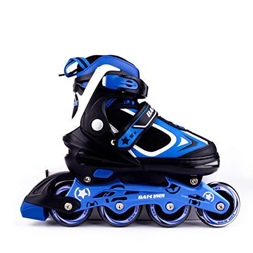 MammyGol Adjustable Inline Skates for Kids with Light up Wheels,Flashing Beginner Roller Skates for Boys and Girls Size 2-4