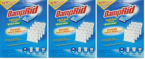 Damprid Fg92 Moisture Absorber Easy-fill System Refill, 4-10.5-ounce Packets (3 Pack) by DampRid