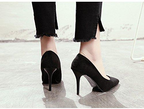 HRCxue Wilde einzelne Schuhe Frauen Frauen Frauen fein mit stilvollen high-heel Schuhe flache Mund matt Tipp Arbeit Schuhe Mädchen Schuhe 36 556196