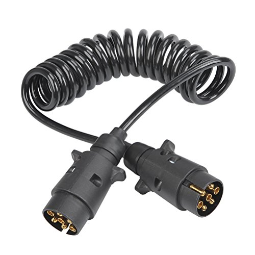 CJMM Trailer Extension Cable 2.5M with Trailer Plug Socket Connector Electrical Wiring Cable Connector Spiral Trailer…