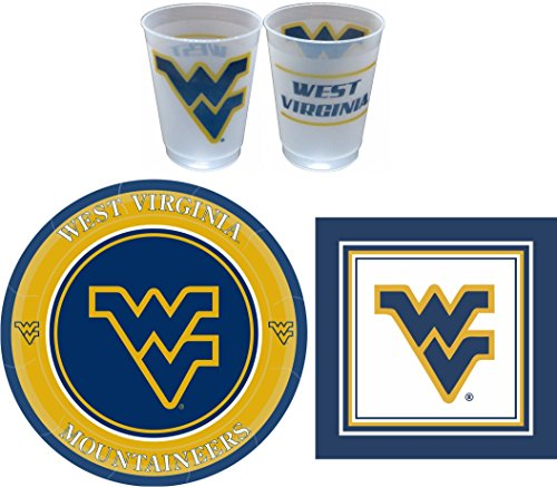 West Virginia Mountaineers Party Pack - 81 Pieces (Serves 24)