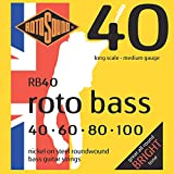 Rotosound RB(40 Nickel (Unsilked) Bass Guitar Strings (40 60 80 100)