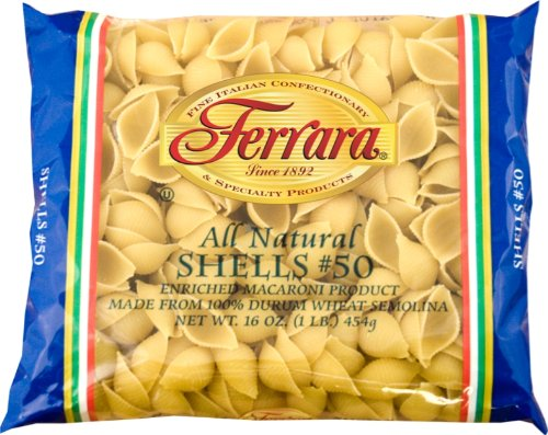 Ferara Pasta, Shells (Conchiglie), 1-Pound (Pack of 20) (Conchiglie Pasta compare prices)