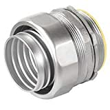 1 Pc, 2 In. 304 Grade Stainless Steel Liquid Tight Connector For Continuity Of Grounding