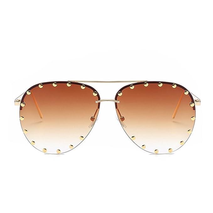 476dc19ff3 Amazon.com  Fashion Culture Unisex Affair Studded Aviator Sunglasses ...