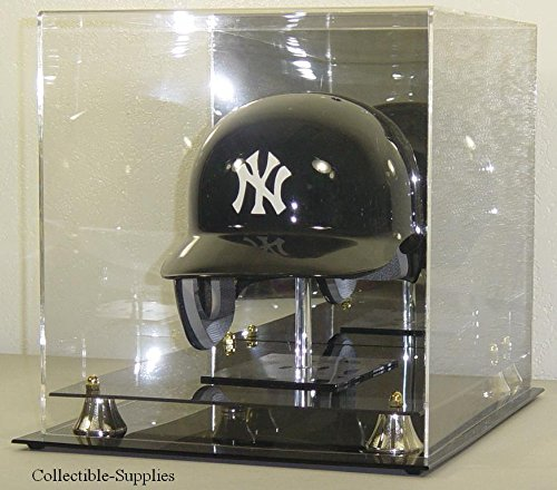 FULL SIZE MLB BASEBALL HELMET DISPLAY CASE with - Mlb Memorabilia