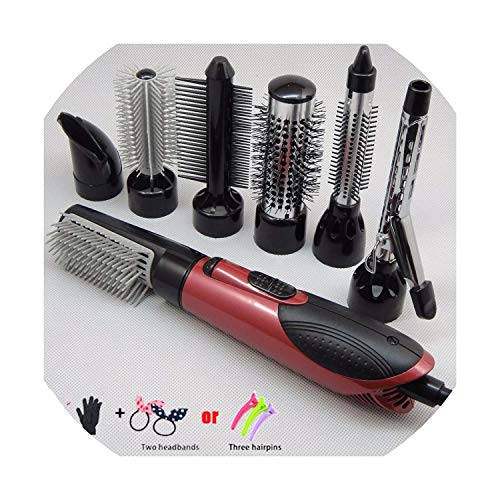 Sb 0.375 (Pro 7 Part Interchangeable Hair Curling Iron Machine Ceramic Hair Curler Multi-size Roller Heat Resistant Styling Set A06,Red,I)