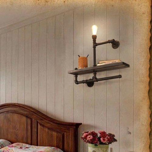 LightInTheBox Black Antique 40W Wall Sconces Light Lamp Decorative Light Fixture for Bedroom, Living Room, Balcony, Corridor, Yellow Storage Organization