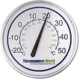 Thermomètre Mural 300mm pour Intérieur ou Extérieur mural pour Jardin Maison Patio Serre Bureau Garage