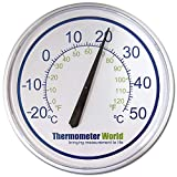 Garden Thermometer Large 300mm For Indoor or Outdoor Wall Home Garden Patio Greenhouse Office Garage