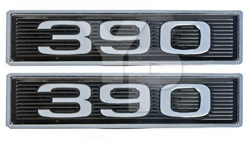 390 Chrome Plated Hood Scoop Emblems - Pair ()