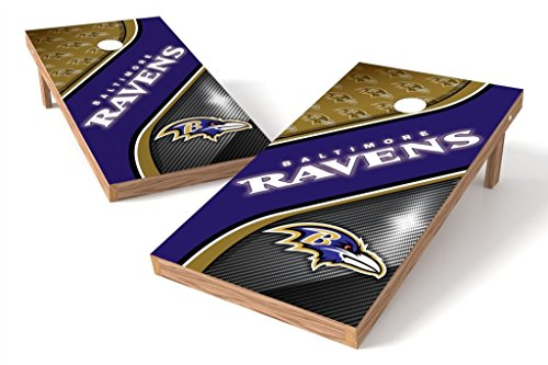 PROLINE NFL Baltimore Ravens 2'x4' Cornhole Board Set - Swirl Design