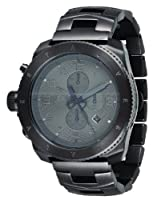 Vestal Men's Restrictor Silver/Silver/Black Brushed Watch from Vestal