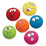 #1: FTXJ 6PCS Puppy Dog Toys Chewing Squeaky Toy for Pet Dog with Sound Squeaker Squeaky Ball With Face Fetch Toy (3.255.253.25cm, Random)