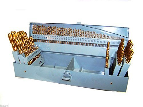 115 HSS INDEX TITANIUM DRILL BIT SET METAL STEEL FRACTIONAL NUMBER AND LETTER by Drill Bits