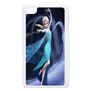 Qxhu Disney Frozen patterns Hard Plastic Back Protective case for Ipod Touch4