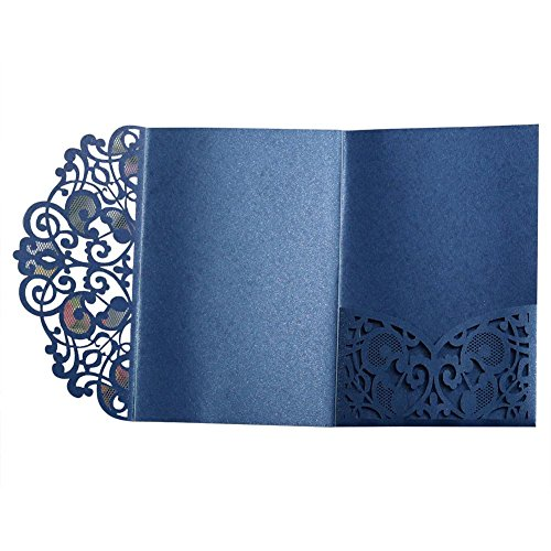 Puremood Party Invitation 10PCS European Style Laser Cut Wedding Invitations Cards Tri-Fold Lace Business Invitation Cards Party Decoration Party Invitations Supplies