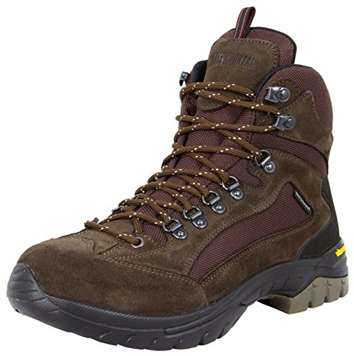GUGGEN MOUNTAIN Herren Wanderschuhe Bergschuhe wasserdicht Outdoor-Schuhe Walkingschuhe HPM51, Farbe Braun, EU 44