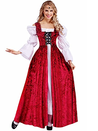 [Medieval Lace-Up Gown Costume - Plus Size - Dress Size 18-22] (Plus Size Costumes)