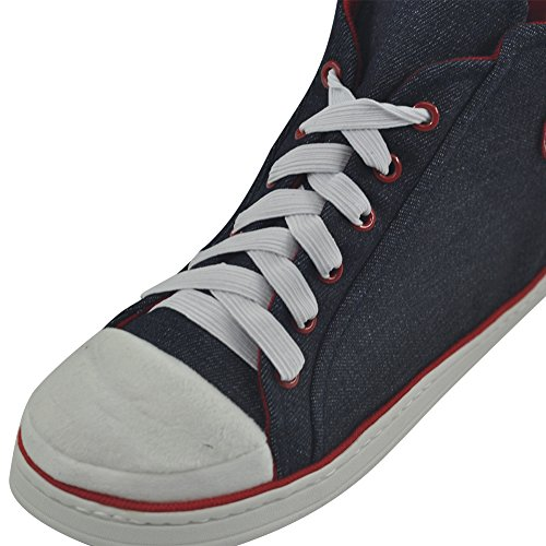 Hem Toffel Mens Vinter Varma Plysch Inomhus Hus Utomhus Mode Sneaker Tofflor Stövlar Mörkblå 2