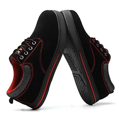 Homme Protection Travail Chnhira Sécurité Unisexes A Basket De Chaussures Noir Respirante Chaussure Résistante Embout Acier l1c3TFKJ