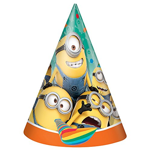 Despicable Me Minions Party Hats 8ct