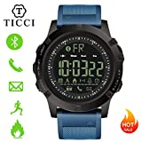 Cheap T0003 Electronic Fitness Tracker Digital Sports Bluetooth Smart Watch Waterproof Pedometer Remote Camera Incoming Call or Message Alert Reminder for iOS & Android Smartwatch Men & Boys (Blue Strap)