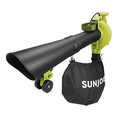 Sun Joe SBJ605E 14-Amp (up to 250 MPH) 3-in-1 Electric Blower/Vacuum/Mulcher, Green