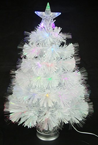 Fibre Optic Christmas Tree With White Led Lights