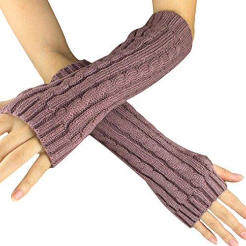Women's Warm Winter Gloves Mittens Rose Gold - 3
